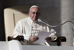 November 9, 2016 - Vatican City, Vatican - Pope Francis deliveres his speek during the special audience at Vatican, on November 9, 2016. (Credit Image: © Massimo Valicchia/NurPhoto via ZUMA Press)