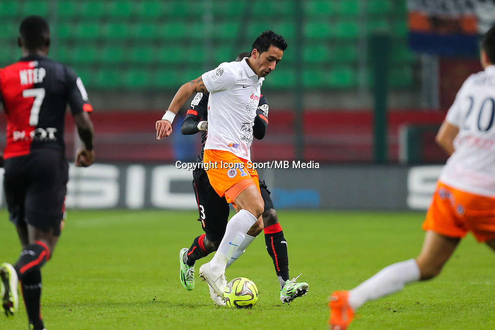 Lucas BARRIOS - 06.12.2014 - Rennes / Montpellier - 17eme journee de Ligue 1 -<br />Photo : Vincent Michel / Icon Sport