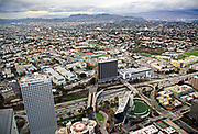 Downtown Los Angeles at the Harbor Freeway Observed from OUE Skyspace