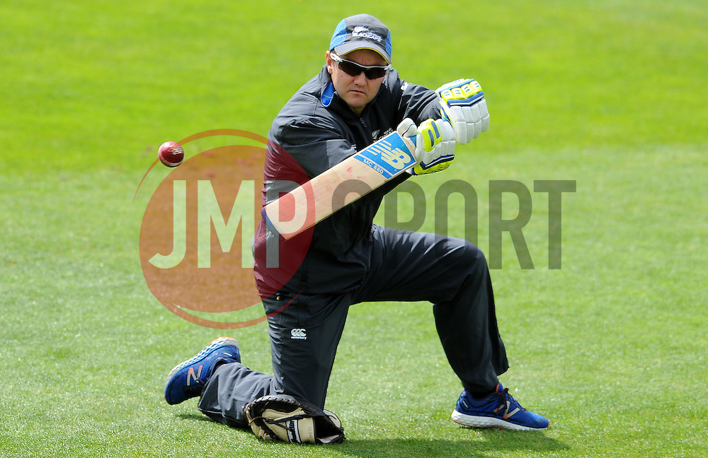 New Zealand's Head Coach Mike Hesson Photo mandatory by-line: Harry Trump/JMP - Mobile: 07966 386802 - 09/05/15 - SPORT - CRICKET - Somerset v New Zealand - Day 2- The County Ground, Taunton, England.