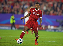 SEVILLE, SPAIN - Tuesday, November 21, 2017: Liverpool's Georginio Wijnaldum during the UEFA Champions League Group E match between Sevilla FC and Liverpool FC at the Estadio Ramón Sánchez Pizjuán. (Pic by David Rawcliffe/Propaganda)