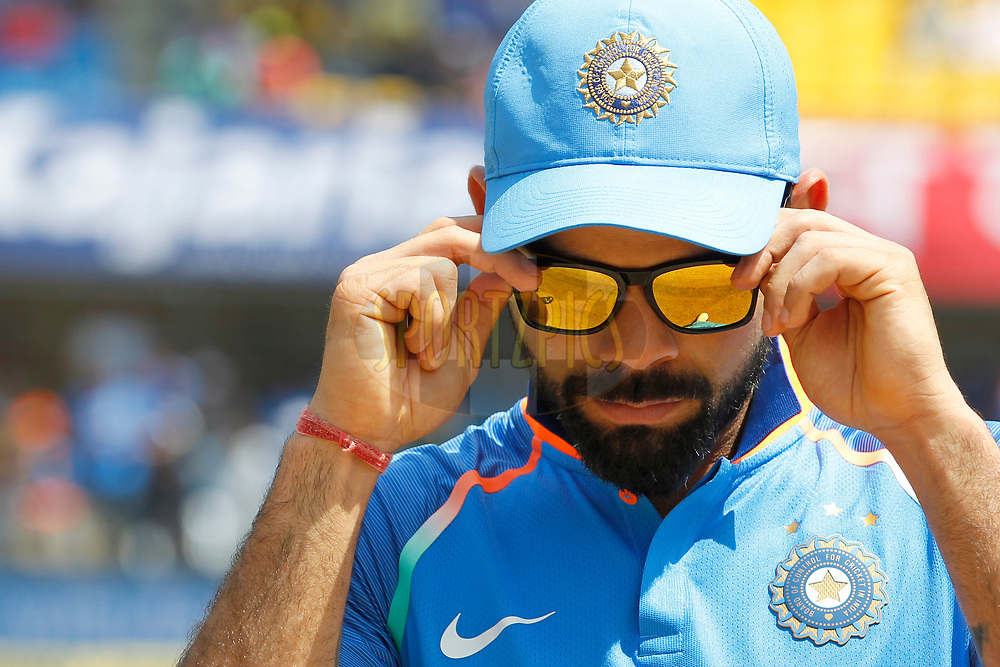 Virat Kohli captain of India during the 3rd One Day International between India and Australia held at the Holkar Stadium in Indore on the 24th  September 2017<br /> <br /> Photo by Deepak Malik / BCCI / SPORTZPICS