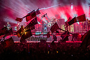 The Killers play the Pyramid Stage - The 2019 Glastonbury Festival, Worthy Farm, Glastonbury.