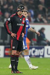 23.11.2011, BayArena, Leverkusen, Germany, UEFA CL, Gruppe E, Bayer 04 Leverkusen (GER) vs Chelsea FC (ENG), im Bild Michael Ballack (Leverkusen #13) entaeuscht/ entäuscht/ traurig // during the football match of UEFA Champions league, group E, between Bayer Leverkusen (GER) and FC Chelsea (ENG) at BayArena, Leverkusen, Germany on 2011/11/23.EXPA Pictures © 2011, PhotoCredit: EXPA/ nph/ Mueller..***** ATTENTION - OUT OF GER, CRO *****
