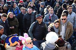 JOE BASTIANICH AL CARNEVALE DI CENTO 2015 PER REGISTRARE UNA PUNTATA DEL SUO SHOW TRASMESSO DA SKY ON THE ROAD<br /> CENTO (FE) 01-02-2015<br /> FOTO FILIPPO RUBIN