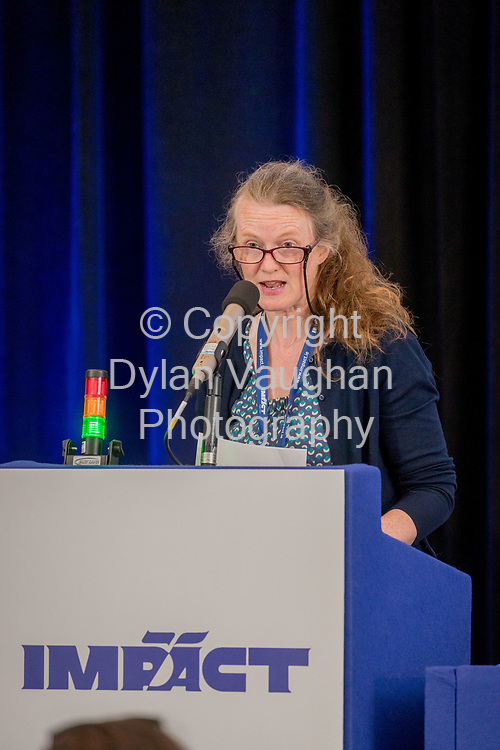2-6-17<br />  <br /> Esther Crowe Mullins, Ballinasloe pictured at the IMPACT Health and Welfare Division Conference in Wexford.<br /> Picture Dylan Vaughan.