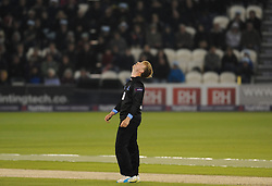 Sussex Will Beer reacts.  - Mandatory by-line: Alex Davidson/JMP - 01/06/2016 - CRICKET - The 1st Central County Ground - Hove, United Kingdom - Sussex v Somerset - NatWest T20 Blast