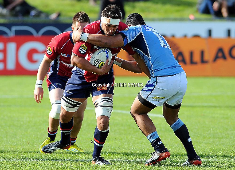 Tasman`s Riki Hoeata during their ITM Cup game Tasman v Northland. Lansdown Park, Blenheim, New Zealand. Sunday 16 September 2012. Photo: Chris Symes/www.photosport.co.nz