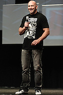 LAS VEGAS, NEVADA, JULY 10, 2009: UFC president Dana White is pictured on stage during the first UFC Fan Expo inside the Mandalay Bay Convention Centre in Las Vegas, Nevada