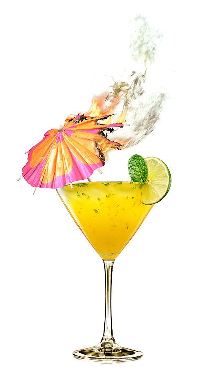 Infused Diablique cocktail Martini