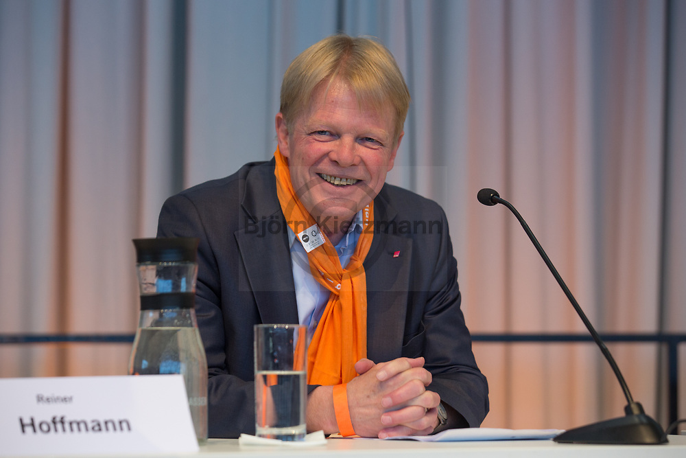 Berlin, Germany - 27.05.2017<br /> <br /> Reiner Hoffmann, Chairman of the German Trade Union Confederation (DGB). German Protestant Church Assembly (&quot;Deutscher Evangelischer Kirchentag&rdquo;) in Berlin. <br /> <br /> Reiner Hoffmann, Vorsitzender des Deutschen Gewerkschaftsbundes (DGB). Deutscher Evangelischer Kirchentag 2017 in Berlin. <br /> <br /> Photo: Bjoern Kietzmann