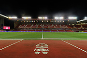 A general view inside The City Ground ahead of the EFL Sky Bet Championship match between Nottingham Forest and Charlton Athletic at the City Ground, Nottingham, England on 11 February 2020.