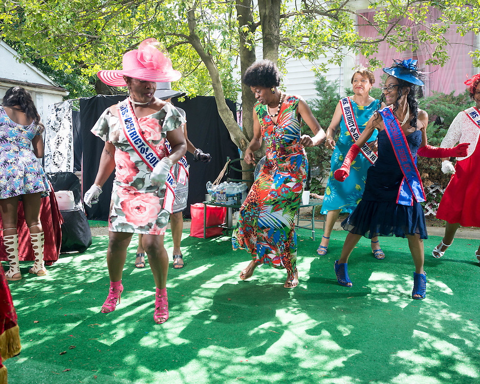 July 2016 - A tea party in southeast Washington, DC hosted by Miss Senior Congress Heights, Elvera Patrick, honors the phenomenal women in her life. Held annually, these afternoon socials feature a live band, fashion show, red carpet entrance, luncheon and awards presenation all organized from Ms. Patrick's home, The Pink Palace. Joining her at these parties are long time friends, and many former and current Ms Senior DC contestant and winners.