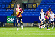 Bradford City defender Paudie O'Connor goal celebrations during the EFL Trophy match between Bolton Wanderers and Bradford City at the University of  Bolton Stadium, Bolton, England on 3 September 2019.