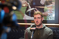 Dundee left back Kevin Holt speaks to the media ahead of the visit of Kilmarnock on Saturday, Dens Park, Dundee.Photo: David Young<br /> <br />  - &copy; David Young - www.davidyoungphoto.co.uk - email: davidyoungphoto@gmail.com