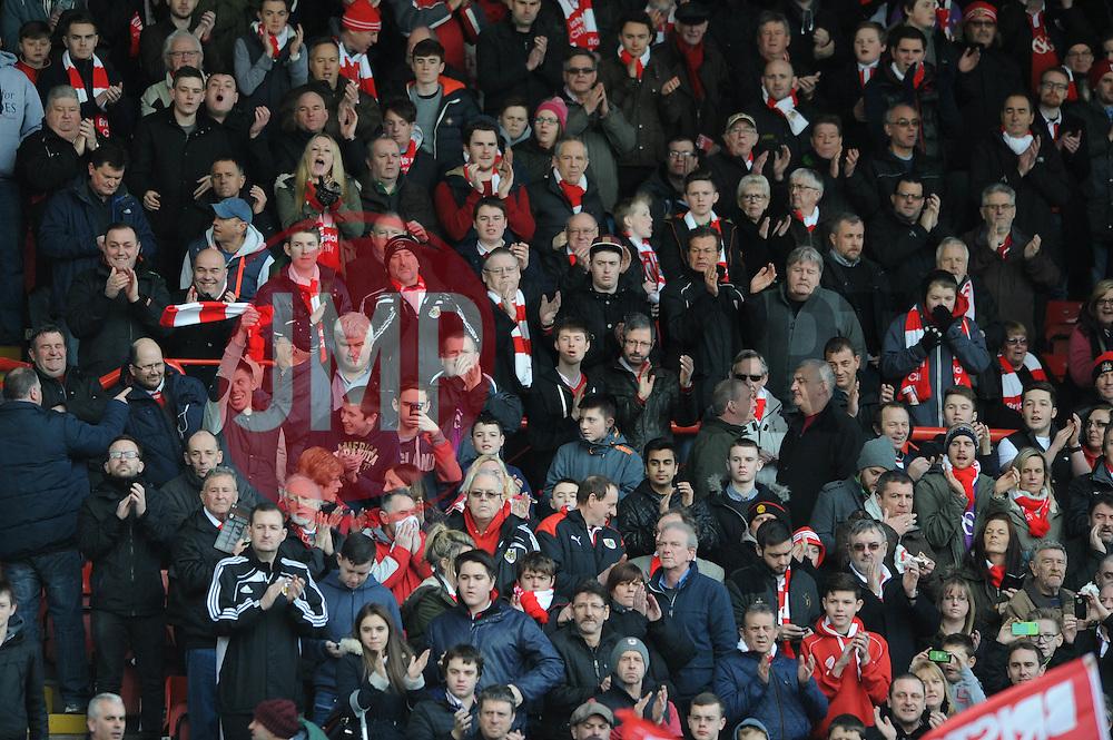 Bristol City fans - Photo mandatory by-line: Dougie Allward/JMP - Mobile: 07966 386802 - 14/02/2015 - SPORT - Football - Bristol - Ashton Gate - Bristol City v Sheffield United - Sky Bet League One