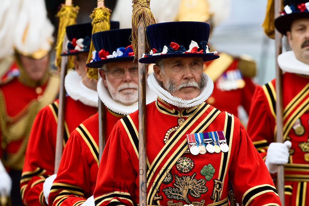 Yeomen of the Guard on parade in England