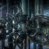 Old abandoned paper mill in the Black forest