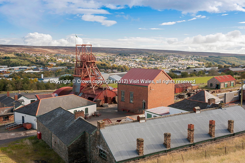 General exterior view<br /> Big Pit<br /> National Coal Museum<br /> Blaenavon<br /> Torfaen<br /> Valleys<br /> South<br /> Rail<br /> Transport