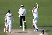 Sussex bowler Ollie Robinson during the Specsavers County Champ Div 2 match between Sussex County Cricket Club and Leicestershire County Cricket Club at the 1st Central County Ground, Hove, United Kingdom on 1 May 2016. Photo by Bennett Dean.