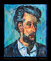 "Copy ""Portrait of Victor Chocquet"" by Paul Cezanne, 1876-77.  Acrylic on paper.   Tim McGuire 2016"
