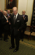 the Duke of Edinburgh. Barbershop: Truefitt & Hill  200th anniversary Bollinger champagne breakfast. Carlton Club, 69 St James's Street, London, SW1, 27 October 2005. October 2005. ONE TIME USE ONLY - DO NOT ARCHIVE © Copyright Photograph by Dafydd Jones 66 Stockwell Park Rd. London SW9 0DA Tel 020 7733 0108 www.dafjones.com