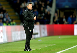 Leicester City manager Craig Shakespeare gives a thumbs up - Mandatory by-line: Robbie Stephenson/JMP - 14/03/2017 - FOOTBALL - King Power Stadium - Leicester, England - Leicester City v Sevilla - UEFA Champions League round of 16, second leg