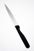 blurry kitchen knife