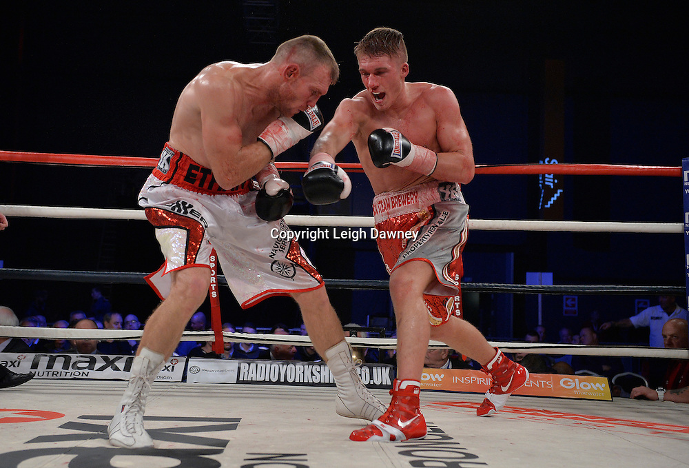 Nick Blackwell v Nathan King in a middleweight boxing contest at Glow, Bluewater, Kent on the 8th November 2014. Promoter: Hennessy Sports. © Leigh Dawney Photography 2014.
