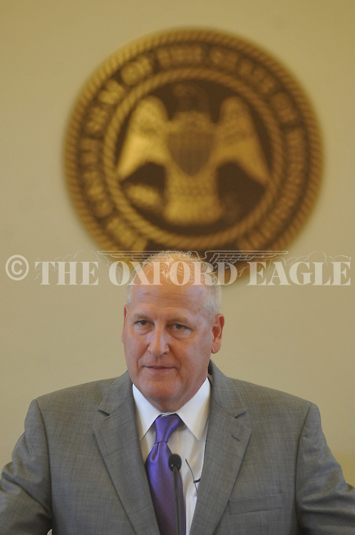 Judge Andy Howorth speaks at the Third Judicial District Adult Drug Court's First Graduation Ceremony at the Lafayette County Courthouse in Oxford, Miss. on Tuesday, August 9, 2011.