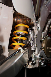 08 February 2007: Honda Motorcycle suspension. The Chicago Auto Show is a charity event of the Chicago Automobile Trade Association (CATA) and is held annually at McCormick Place in Chicago Illinois.