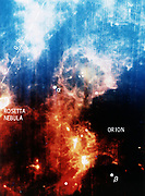 Infra-red view of constellation of Orion.  NASA photograph