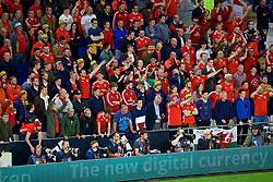 CARDIFF, WALES - Thursday, September 6, 2018: Wales' supporters during the UEFA Nations League Group Stage League B Group 4 match between Wales and Republic of Ireland at the Cardiff City Stadium. (Pic by Laura Malkin/Propaganda)