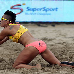 DURBAN, SOUTH AFRICA - DECEMBER 11: Sheana-Alice Abrahams of RSA in action during the FIVB Durban Open at New Beach on December 11, 2013 in Durban, South Africa.  (Photo by Steve Haag/Getty Images for FIVB)