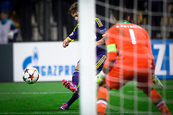 Luka Zahovic of Maribor against Rui Patrício of Sporting during football match between NK Maribor and Sporting Lisbon (POR) in Group G of Group Stage of UEFA Champions League 2014/15, on September 17, 2014 in Stadium Ljudski vrt, Maribor, Slovenia. Photo by Matic Klansek Velej  / Sportida.com
