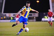 Dominic Smith of Shrewsbury Town during the Sky Bet League 1 match between Shrewsbury Town and Coventry City at Greenhous Meadow, Shrewsbury, England on 8 March 2016. Photo by Mike Sheridan.