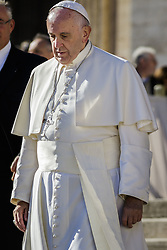 November 12, 2016 - Vatican City, Vatican - Pope Francis leaves at the end of the last Saturday Jubilee Audience as part of ongoing celebrations of the Holy Year of Mercy in St. Peter's Square in Vatican City, Vatican. Pope Francis presided over the last special audience for the Jubilee of Mercy this morning, during which he called on Christians to witness to God's mercy by being inclusive. (Credit Image: © Giuseppe Ciccia/Pacific Press via ZUMA Wire)