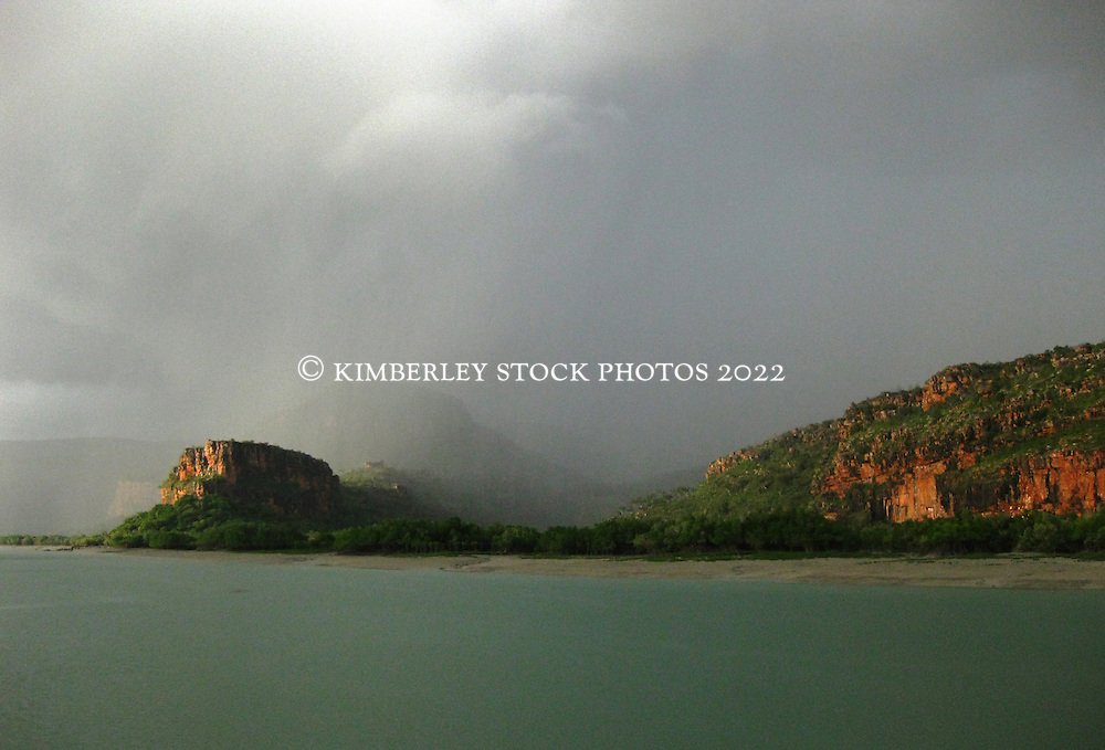 Storms bring rain over Porosus Creek on Western Australia's Kimberley coast.  2010 brought late rains to the Kimberley.