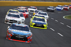 May 26, 2018 - Concord, North Carolina, United States of America - Kyle Busch (18) brings his car through the turns during the Alsco 300 at Charlotte Motor Speedway in Concord, North Carolina. (Credit Image: © Chris Owens Asp Inc/ASP via ZUMA Wire)