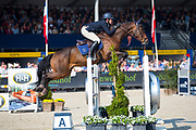 Caroline de Laet - Halland van de Mispelaere<br /> FEI WBFSH World Breeding Jumping Championships for Young Horses 2017<br /> © DigiShots