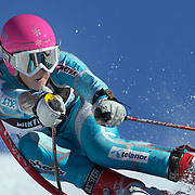 Rikke Gasmann-Broyy, Norway, in action during the Women's Giant Slalom competition at Coronet Peak, New Zealand during the Winter Games. Queenstown, New Zealand, 23rd August 2011. Photo Tim Clayton
