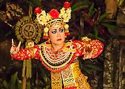 Traditional dancer enacts folktale, Ubud, Bali, Indonesia