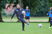 Forest Green Rovers assistant manager, Scott Lindsey during the Forest Green Rovers Training at the Cirencester Agricultural College, Cirencester, United Kingdom on 12 July 2016. Photo by Shane Healey.
