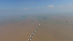 August 2, 2017 - Binzh, Binzh, China - Binzhou, CHINA-August 2 2017: (EDITORIAL USE ONLY. CHINA OUT) The Chengkou Salt Farm is the largest salt farm in Binzhou, east China's Shandong Province. The salt farm, covering 54,618 sqm, produces 200,000 ton of raw salt every year. (Credit Image: © SIPA Asia via ZUMA Wire)