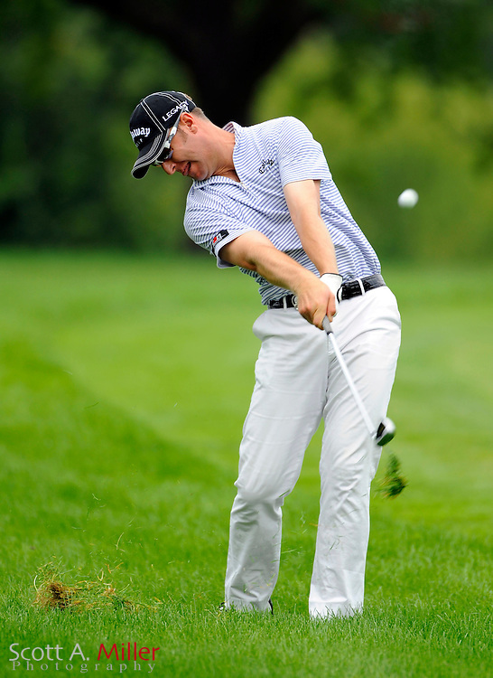 Aug 15, 2009; Chaska, MN, USA; Brendan Jones (AUS) hits out of the rough on the third hole during the third round of the 2009 PGA Championship at Hazeltine National Golf Club.  ©2009 Scott A. Miller