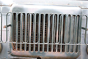 Grill on a military truck at the site of a mock up of a military mess hall in Poland where soup and bread is served.  Rawa Mazowiecka  Central Poland