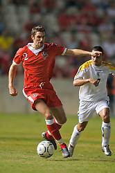 Nicosia, Cyprus - Saturday, October 13, 2007: Wales' Sam Ricketts during the Group D UEFA Euro 2008 Qualifying match against Cyprus at the New GSP Stadium in Nicosia. (Photo by David Rawcliffe/Propaganda)