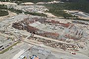 Sao Lourenco da Mata_PE, Brasil.<br /> <br /> Construcao do estadio Itaipava Arena Pernambuco em Sao Lourenco da Mata, Pernambuco.<br /> <br /> Works in Itaipava Arena Pernambuco stadium in Sao Lourenco da Mata, Pernambuco.<br /> <br /> Foto: LEO DRUMOND / NITRO