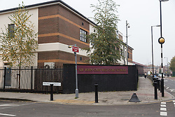 "© Licensed to London News Pictures. 20/11/2014. London, UK. A general view of the Sir John Cass Foundation and Redcoat Church of England Secondary school, in Stepney, east London. The school is expected to be placed in ""special measures"" by the education standards watchdog, Ofstead for failing to monitor the activities of an Islamic society set up by sixth-formers at the school and has been criticised for the allowing segregation between boys and girls in the playground. Photo credit : Vickie Flores/LNP"