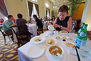 Singapore. Fullerton Hotel. Weekend A La Carte Dim Sum Buffet Lunch at Jade Restaurant.